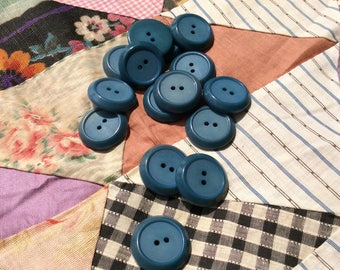 country blue button, jacket or coat button, buttons,vintage seventies, new old stock, dark country blue, large button
