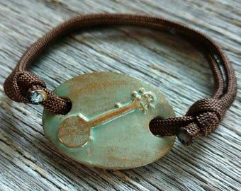 Adjustable Paracord Banjo Bracelet