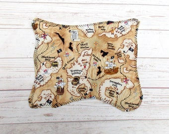 Pirate Treasure Map - Cloth Pirate Map - Play Pirate Map - Pirate Treasure Map - Toy Pirate Map - Pretend Pirate Map - Pirate Placemat - Map