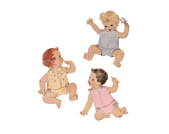 40s Infant Shirt pattern Diaper pattern One Year Old Diaper Cover pattern vintage Baby Clothing pattern McCall 1489 McCalls 1489