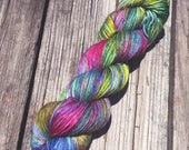 CHAMELEON - Worsted Weight - Superwash Merino - Speckled Yarn - Bayou - Dyed To Order