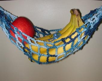 banana hammock fruit hanger holder   variegated blue jeans blues fruit hammock   etsy  rh   etsy