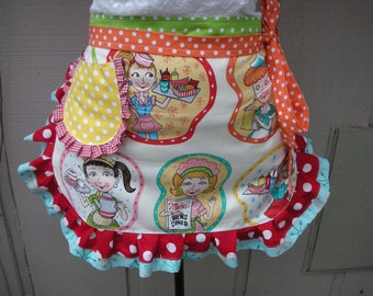 Womens Aprons - Diner Aprons - Waitress Aprons - Lunch Ladies Aprons - Annies Attic Aprons - Lee Ann Hill Aprons - Kitchen & Dining Aprons