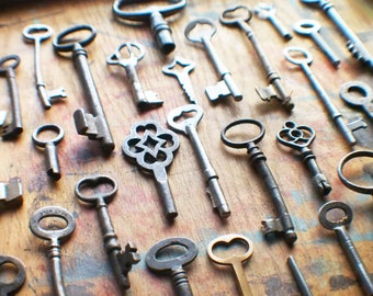 Bent and Broken Antique Key Lot - Instant Collection