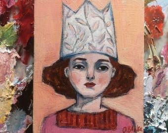 Oil painting portrait - Oliveria - Original art