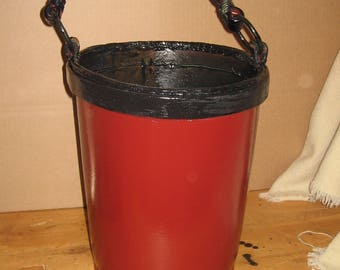 18th century reprocution leather fire bucket
