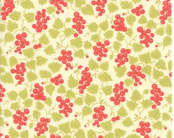 Hazel and Plum - Berries in Cream: sku 20297-17 cotton quilting fabric by Fig Tree and Co. for Moda Fabrics