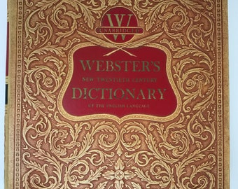 Webster's 1956 vintage unabridged dictionary / huge amazing dictionary in good condition / library version