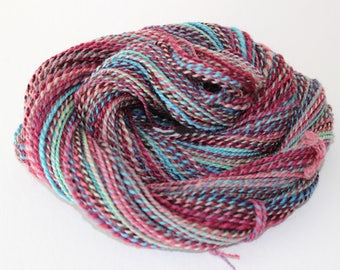Handspun 2ply BFL wool Kaleidoscope