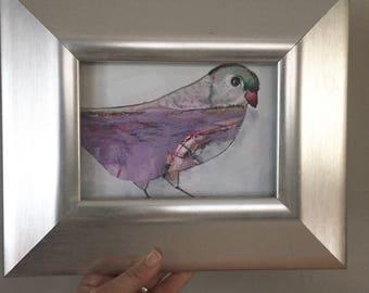 ON SALE original bird painting