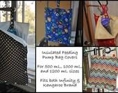 4 custom size large insulated feeding pump bag covers