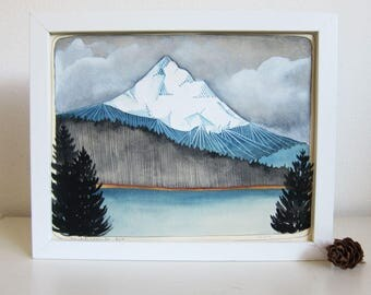 Art - Painting - Illustration - Mt Hood Art - Mountain Art - Northwest Art - Oregon Art - Lost Lake Oregon - Oregon Painting - Mt Hood