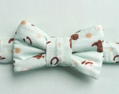 Cowboy Western Print Bow Tie for Cats