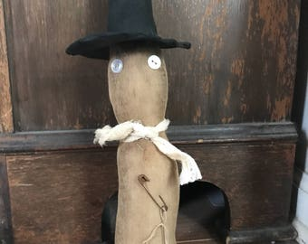 Primitive Halloween Stump Witch ready to ship