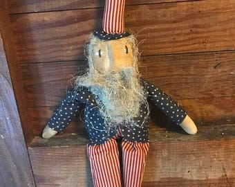 CustomerAppreciationSale Primitive Doll Uncle Sam