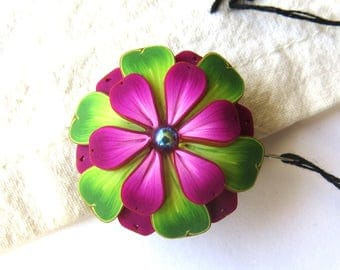 Pink Flower Needle Minder Magnetic Sewing Needle Notions