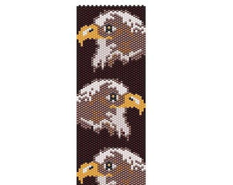 Peyote Odd Count Bead Pattern  Eagle Heads PDF Instant Download Jewelry Home Decor Beads