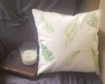 fern/leaves/decorative throw pillow cover/ color of the year/ green