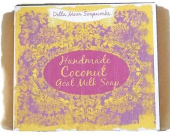 Handmade Coconut Goat Milk Soap,Cold Process Soap,Goat Milk Soap,handmade soap,olive oil soap, cold process soap, shaving soap,