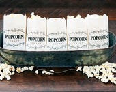 Popcorn Favor Bags - Country Branch Design -  Wedding, Birthday, Anniversary, Baby Shower, Party Favor - 5 Tall White bags in each Pack