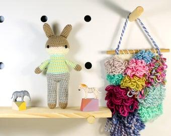 toby .. amigurumi animal doll, boy toys, crochet animal, crochet toy rabbit, plush doll, bunny, stuffed plush toy, kawaii plushie rabbit