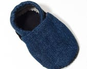 Denim Soft Soled Baby Shoes 6-12 mo