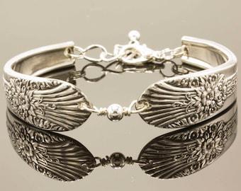 Silver Spoon Bracelet MARIGOLD/SILVER MISTJewelry Vintage, Silverware, Gift, Anniversary, Wedding, Birthday