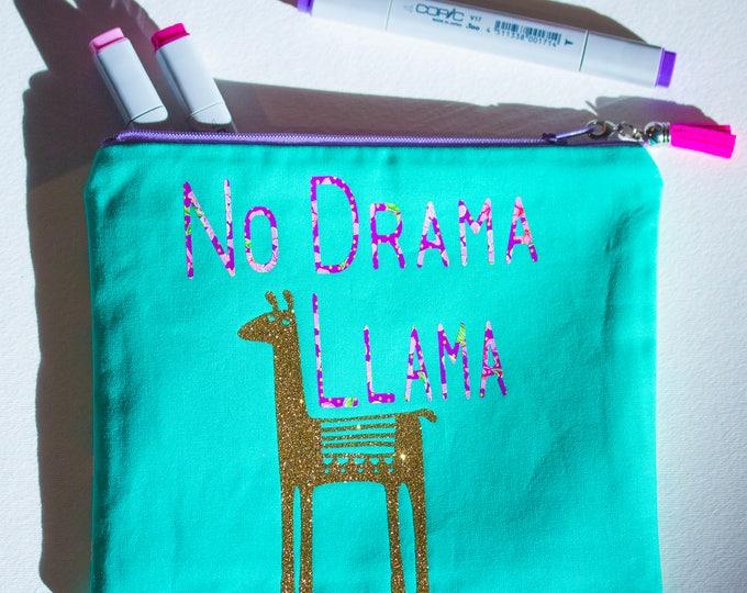 No Drama Llama Makeup Pouch