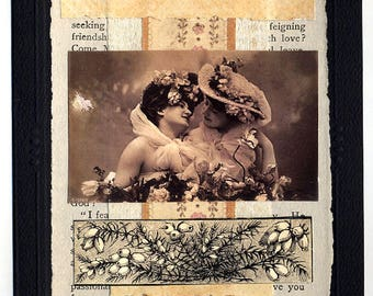 What a Lover Can Do Lesbian Love Wedding Collage Card