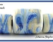 BIG HOLE Shades of Blue Lampwork Bead Set SRA
