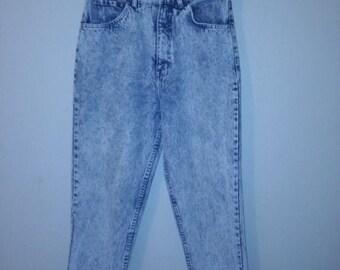 Closing shop SALE 40% off Vintage 80's 90's high waist ESPRIT  Jeans Pants stone acid wash W 28