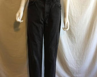 Closing Shop 40%off SALE 90s LEVIS 550 relaxed Fit Tapered Leg black jeans  high waist jeans pants vintage  Waist W 31