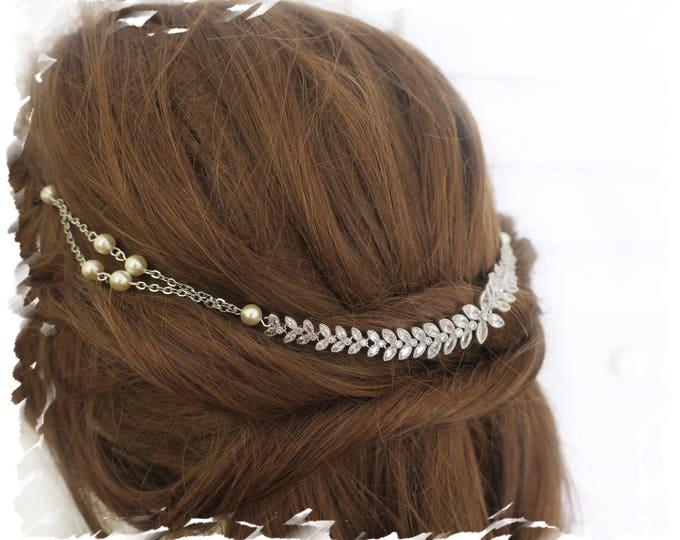 Crystal Bridal Headpiece Bridal Flapper Head Dress
