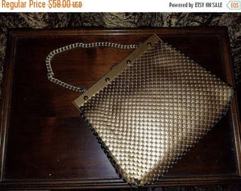 30% OFF Vintage Whiting and Davis Gold Mesh Chain Strap Handbag Purse