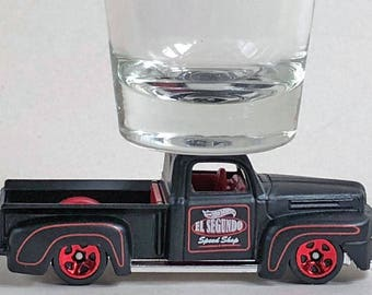 the Original Hot Shot shot glass, '41 Ford F-1 Pick Up, El Segundo Speed Shop, Hot Wheel car