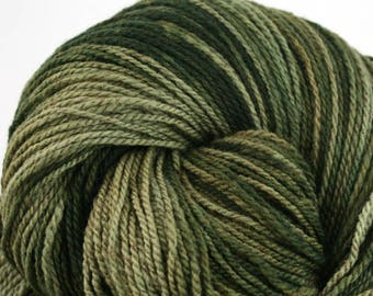 Mohonk Light Hand Dyed fingering weight NYS Wool 550yds 4oz Spinach