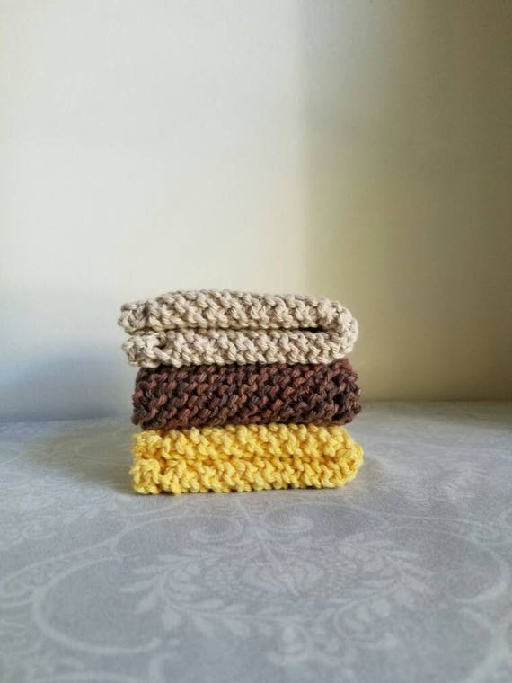 Sunflower Dishcloth Trio