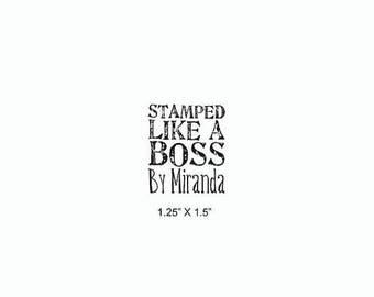 Xmas in July Stamped Like A Boss Custom Rubber Stamp AD373