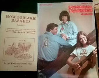 Lot of Pattern Books How-to Manual Embroidery Basket making Stencils