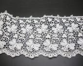 Vintage White Guipure Scalloped Lace 2 Yards