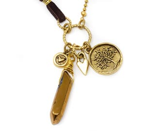 Long Necklace - Quartz Necklace - Boho Necklace - Boho Jewelry - Gift For Her
