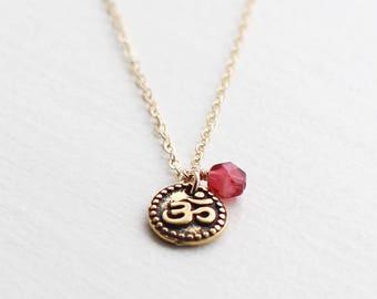 aum - gold necklace by elephantine