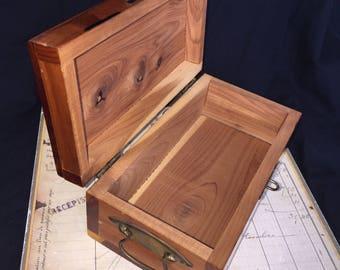 Vintage Cedar Point Cedar Chest Jewelry Box