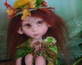 WOODLAND FOREST Fairy Fairies Fae pixie elf OOAK Fantasy Art Doll By Lori Schroeder 7G