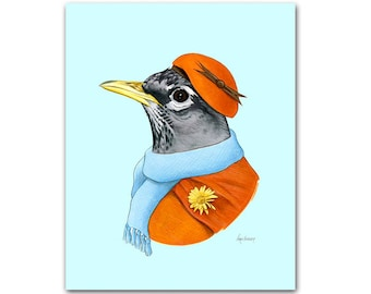 Robin Lady art print by Ryan Berkley 11x14