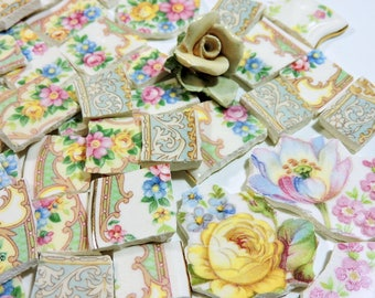 China Mosaic Tiles - SHaBBY CHiC & OLD RoSeS - 120 Mosaic Tiles