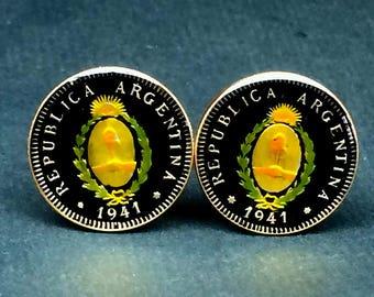 1941 Argentina coin cufflinks 19mm.