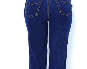 Spring Sale Vintage Jeans Bon Jour Jeans Indigo Straight Leg High Waist 26 x 32