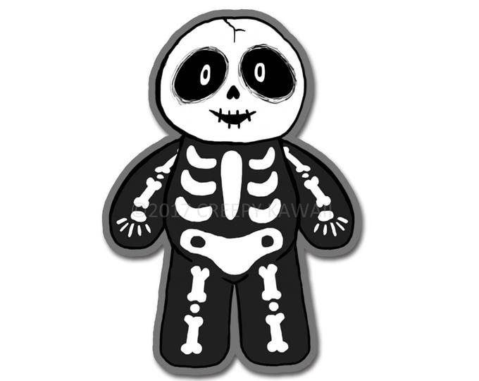 Vincent the Skeleton - 3 Inch Weatherproof Vinyl Sticker