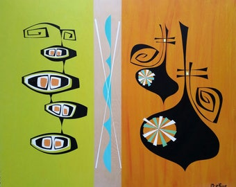 Two Sides - original painting shipped free!
